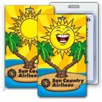 3D Lenticular Sunshine Palm Tree Stock Image Luggage Tag (Imprinted) Logo Branded
