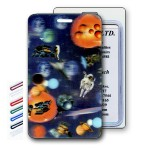 Logo Branded 3D Image Space/ Astronauts/ Moon Lenticular Luggage Tag (Imprinted)