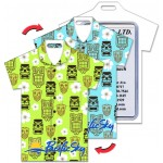 Custom Imprinted Shirt Shape Luggage Tag w/Tiki Heads Lenticular Design (Custom)