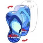 Custom Imprinted Flip-Flop Shape Luggage Tag w/Surfing Wave Lenticular Design (Custom)