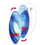 Custom Printed Surfboard Luggage Tag w/Ocean Surf Wave Lenticular Flip Design (Imprinted)