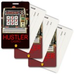 Logo Branded Privacy Luggage Tag w/3D Lenticular Images of Slot Machine (Custom)