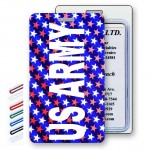 Lenticular Change Color American Flag Stars Luggage Tag (Custom) Custom Imprinted
