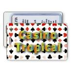 Custom Printed Lenticular Flip Playing Card Symbols Luggage Tag (Custom)