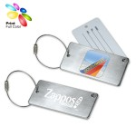 Custom Printed Stainless Steel Luggage Tag with Hide-In Address Card