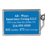 """Large Rectangle Acrylic Luggage Tag (2 1/4""""X 3 3/4"""") with Plastic Loop Custom Imprinted"""