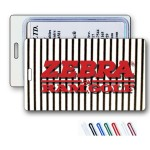 3D Black/White Stripe Lenticular Animation Luggage Tag (Imprinted) Logo Branded