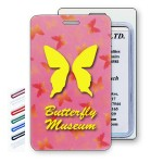 Lenticular Change Color Pink Rainbow Butterflies Luggage Tag (Custom) Custom Imprinted