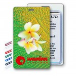 3D Lenticular Tropical White Flower Stock Image Luggage Tag (Imprinted) Custom Printed