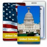3D Lenticular US Capitol & US Flag Stock Image Luggage Tag (Imprinted) Logo Branded