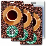 Logo Branded 3D Lenticular Coffee Beans/ Cup Stock Image Luggage Tag (Imprinted)