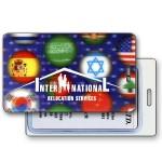 Lenticular 3D Image International Flags Luggage Tag (Imprinted) Custom Printed