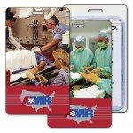 Logo Branded Luggage Tag w/3D Flip Lenticular Image of an Emergency Room (Imprinted)