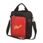 The Vertical Laptop Shoulder Bag - Red Logo Branded