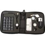 Custom Printed USB Travel Kit with Portable Keyboard & Mini Hub (4 Piece Set)