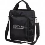The Vertical Laptop Shoulder Bag - Black Custom Imprinted