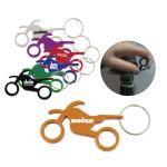 Custom Imprinted Motorcycle Bottle Opener w/ Key Ring