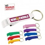 Bottle Opener w/Key Chain - Digital Full Color Process (Close out) Custom Imprinted