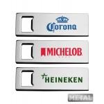 Custom Imprinted Metal Sleek Beer Bottle Opener - Full Color