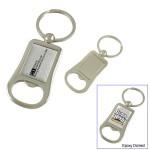 Metal Bottle Opener Key Tag-Closed out Custom Imprinted