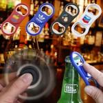 Extend A Fun Fidget Spinner Bottle Opener (White) Logo Branded