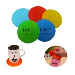 "Custom Printed 4 7/8"" Round Silicone Coaster/Jar Opener"