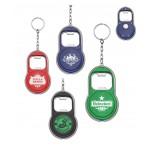 Custom Imprinted Bottle Opener w/LED Flashlight Keychain