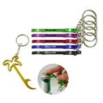 Custom Printed CoConut Palm Bottle Opener w/ Key Ring