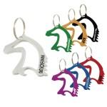 Custom Printed Horse Head Bottle Opener w/ Key Ring