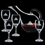 Logo Branded Medford Carafe & 4 Wine