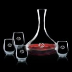 Yorkville Carafe & 4 Stanford Wine Custom Engraved