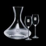 Personalized Senderwood Carafe & 2 Woodbridge Wine