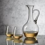 Logo Branded Deane Carafe & 2 Stemless Wine Glasses