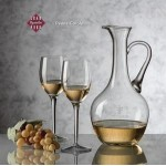 Deane Carafe & 4 Wine Glasses Logo Branded