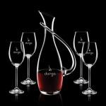 Custom Engraved Uxbridge Carafe & 4 Wine