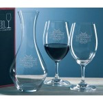 Custom Engraved Riedel Ouverture Crystal Wine Set w/ Decanter & 2 Glasses