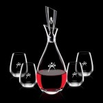 Custom Imprinted Juliette Decanter & 4 Stemless Wine