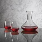 Custom Imprinted Senderwood Carafe & 2 Stemless Wine Glasses