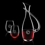 Uxbridge Carafe & 2 Stemless Wine Custom Engraved