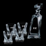 Custom Engraved Bonham Decanter & 4 On-the-Rocks