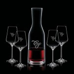 Logo Branded Caldmore Carafe & 4 Wine