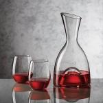 Rathburn Carafe & 2 Stemless Wine Glasses Logo Branded