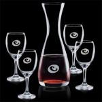 Custom Printed Bishop Carafe & 4 Wine