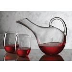 Medford Carafe & 4 Stemless Wine Glasses Logo Branded