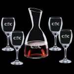 Logo Branded Rathburn Carafe & 4 Wine