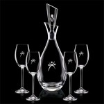 Custom Engraved Juliette Decanter & 4 Wine