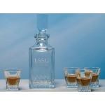 Hudson Decanter Tasting Set (5 Piece Set) Custom Imprinted