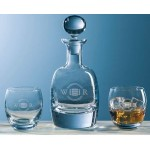 Personalized Barrel Decanter w/ 2 Glasses (3 Piece Set)