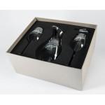 Personalized Essence/Lyrica Crystal Wine Set w/Decanter & 2 Wine Glasses