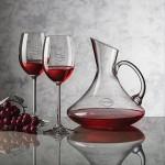 Custom Imprinted Bearden Carafe & 2 Wine Glasses